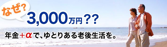 なぜ、老後資金に3,000万円必要??